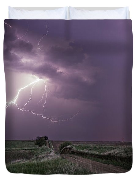 Road To Nowhere - Lightning Duvet Cover
