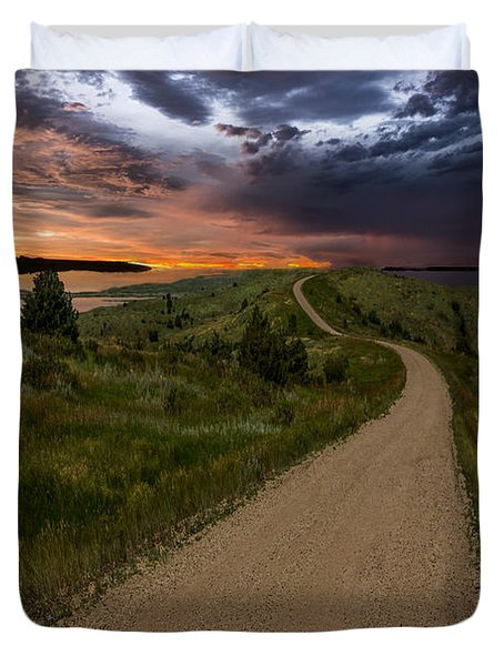 Road To Nowhere - Stormy Little Bend Duvet Cover