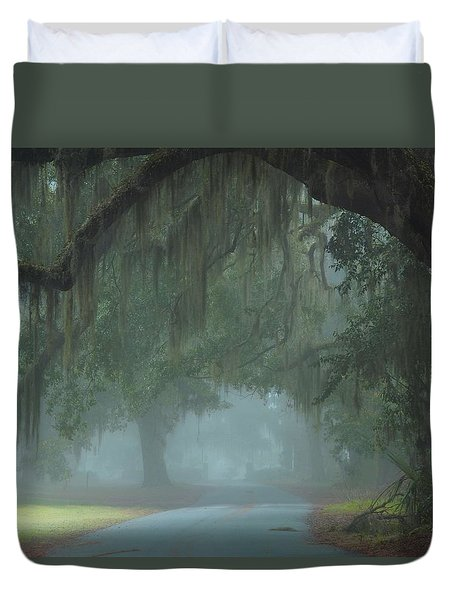 Road To Righteousness Duvet Cover by Laura Ragland