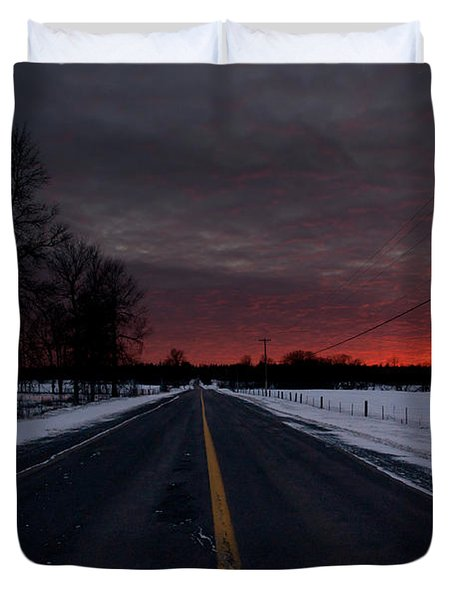 Road To Success Duvet Cover by Cheryl Baxter