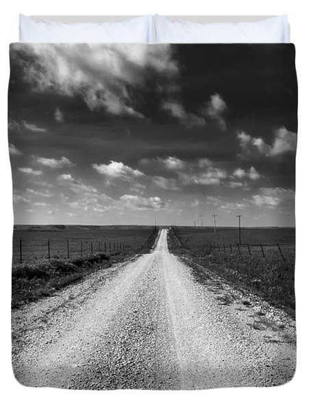 Road To Texaco Hill Duvet Cover