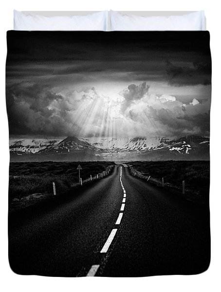 Road Trip Duvet Cover by Ian Good
