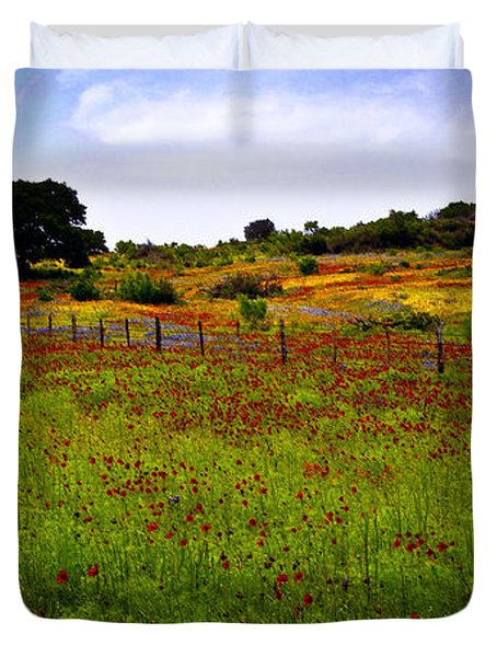 Roadside Flowers Duvet Cover
