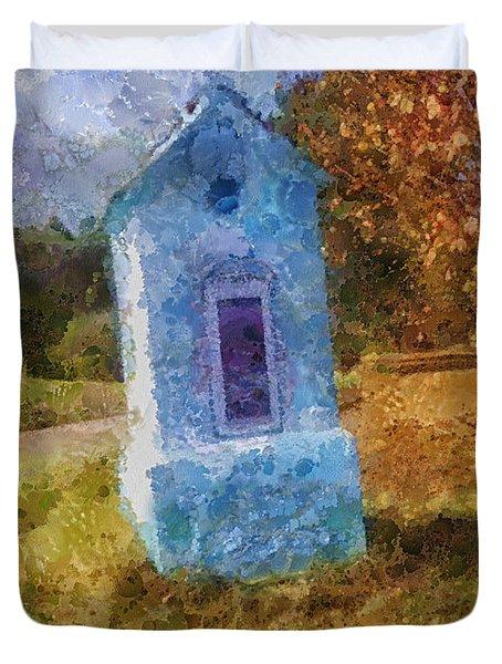 Roadside Shrine Duvet Cover by Mo T