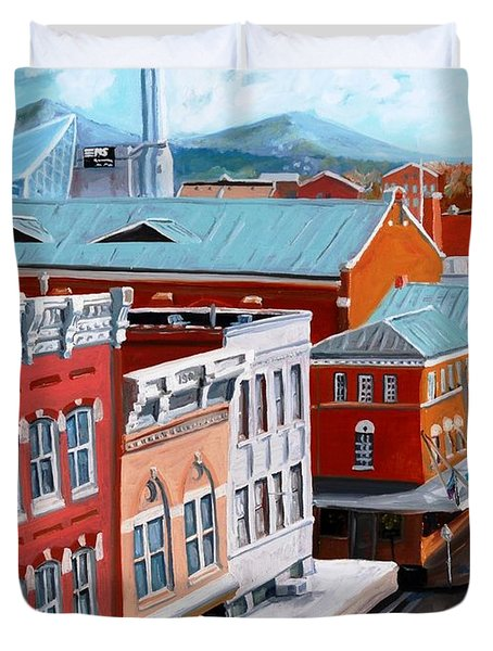 Roanoke City Market Duvet Cover by Todd Bandy