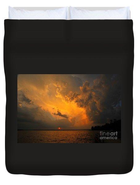 Roar Of The Heavens Duvet Cover by Terri Gostola