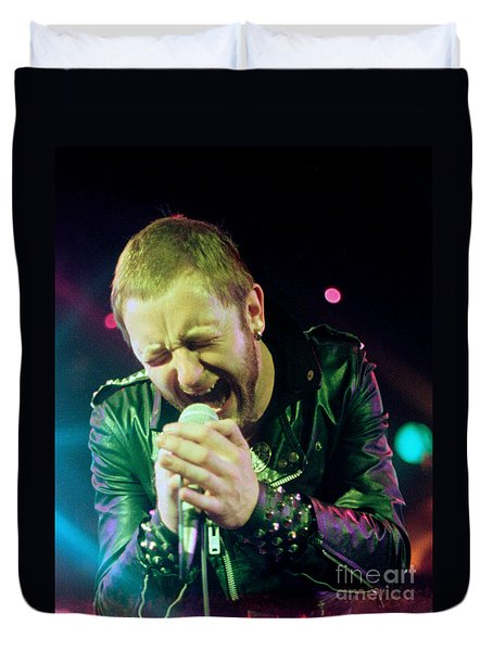 Rob Halford Of Judas Priest Without Flames Effect- Warfield Theater During British Steel-unreleased  Duvet Cover