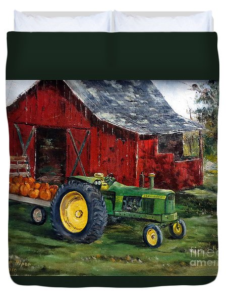 Rob Smith's Tractor Duvet Cover by Lee Piper