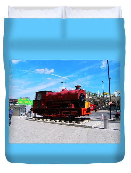 Duvet Cover featuring the photograph Robert At Stratford In Summer by Mudiama Kammoh