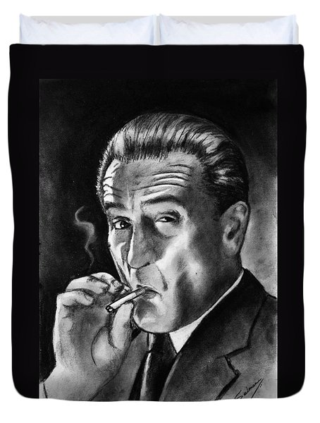 Robert De Niro Duvet Cover by Salman Ravish