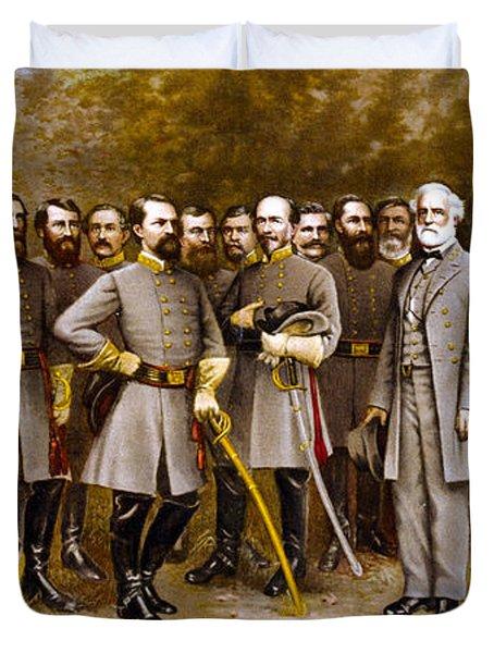 Robert E. Lee And His Generals Duvet Cover