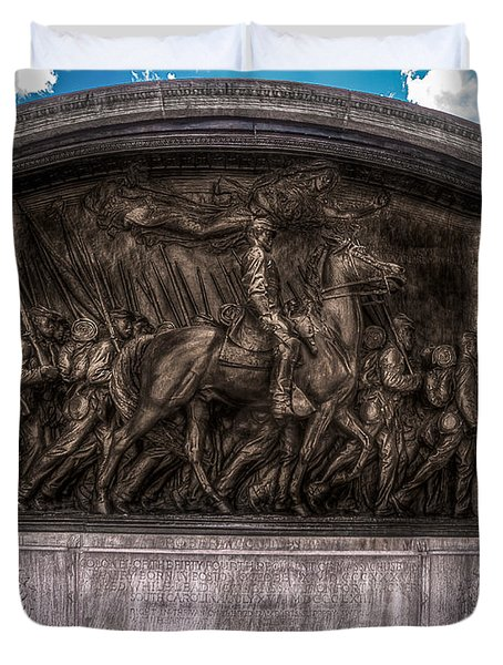 Robert Gould Shaw Memorial On Boston Common Duvet Cover