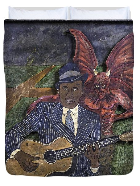 Robert Johnson At The Crossroads Duvet Cover