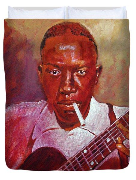 Robert Johnson Photo Booth Portrait Duvet Cover