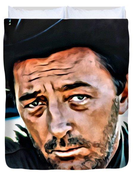 Robert Mitchum Duvet Cover by Florian Rodarte