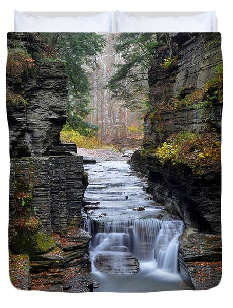 Robert Treman State Park Duvet Cover by Frozen in Time Fine Art Photography
