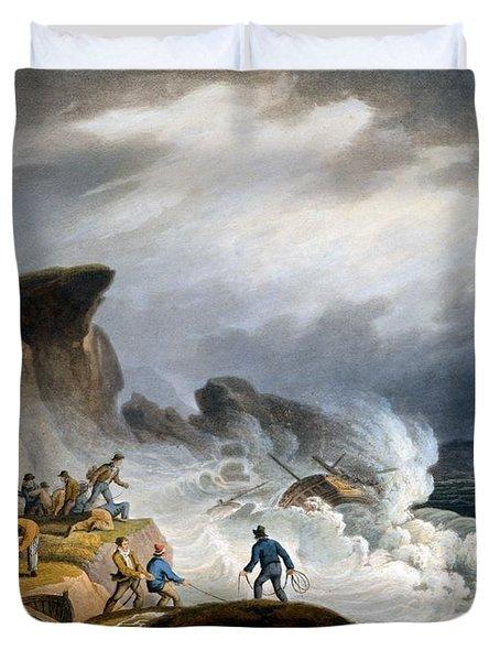Robin Hoods Bay, Yorkshire, 1825 Duvet Cover