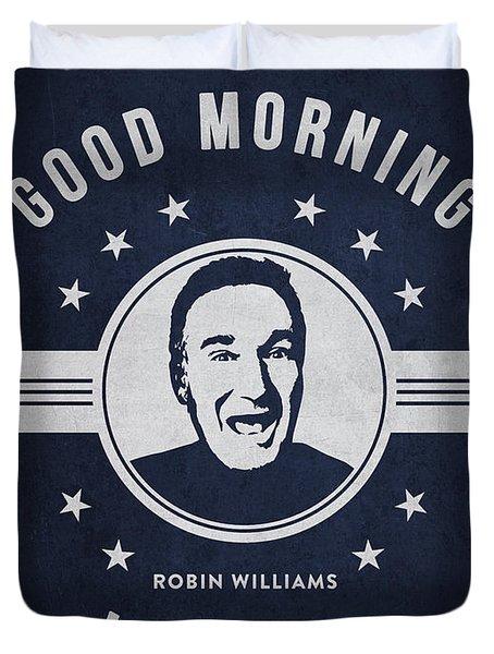 Robin Williams - Navy Blue Duvet Cover