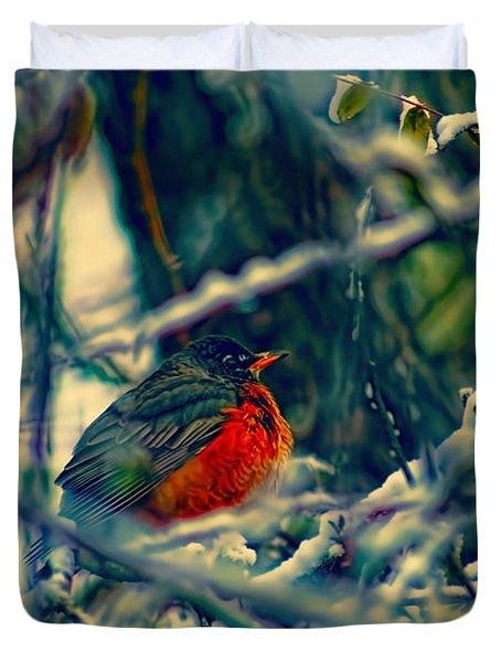 Robins Patience Art Duvet Cover