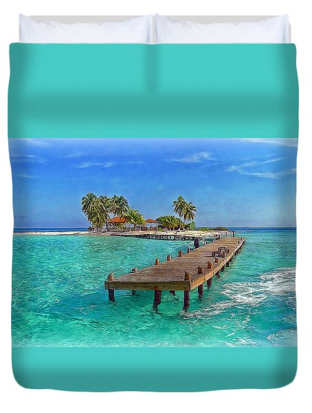 Robinson Island Duvet Cover