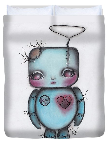 Robot Duvet Cover by Abril Andrade Griffith