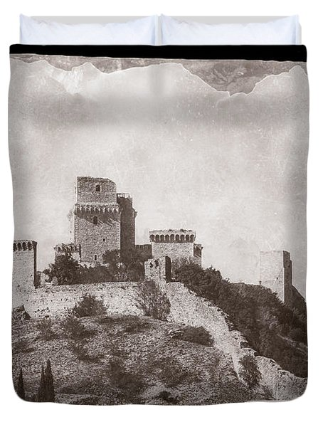 Rocca Maggiore Castle Duvet Cover