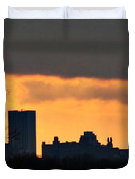 Rochester Skyline Duvet Cover by Richard Engelbrecht