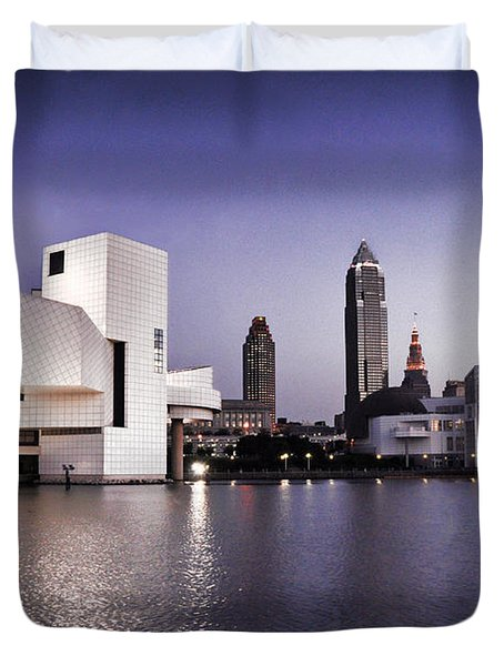 Duvet Cover featuring the photograph Rock And Roll Hall Of Fame - Cleveland Ohio - 2 by Mark Madere