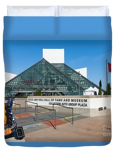 Rock And Roll Hall Of Fame IIi Duvet Cover by Clarence Holmes