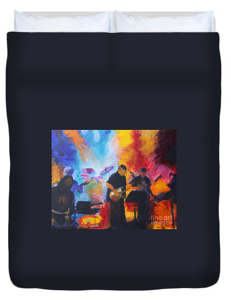 Rock And Roll Duvet Cover by Jan Bennicoff