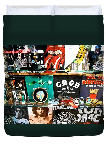 Rock And Roll On St. Marks   Nyc Duvet Cover