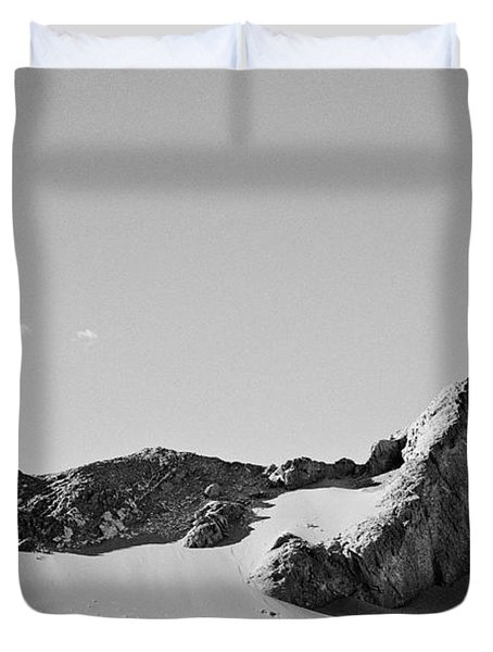 Duvet Cover featuring the photograph Rock And Sand by Lana Enderle