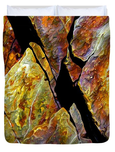 Duvet Cover featuring the photograph Rock Art 17 by ABeautifulSky Photography