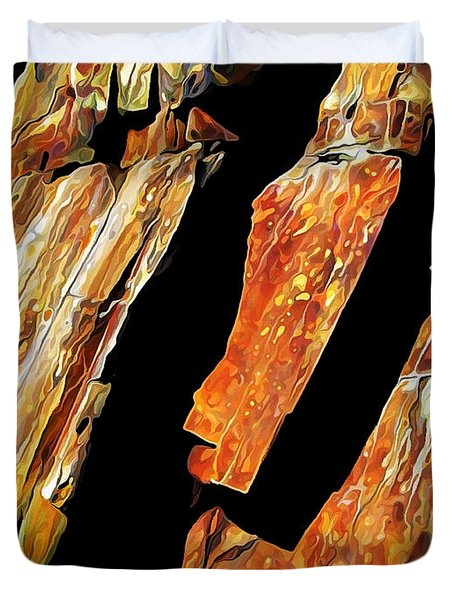 Duvet Cover featuring the photograph Rock Art 21 by ABeautifulSky Photography