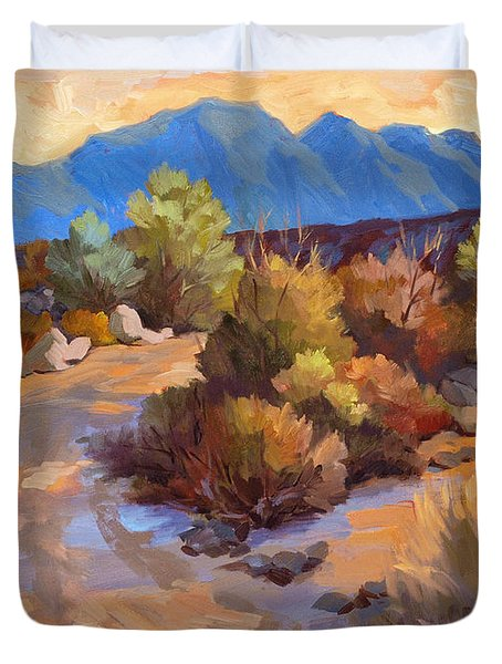 Rock Cairn At La Quinta Cove Duvet Cover