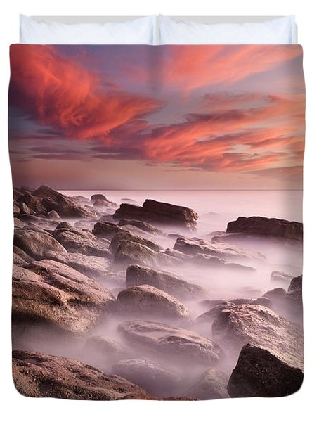 Rock Caos Duvet Cover by Jorge Maia