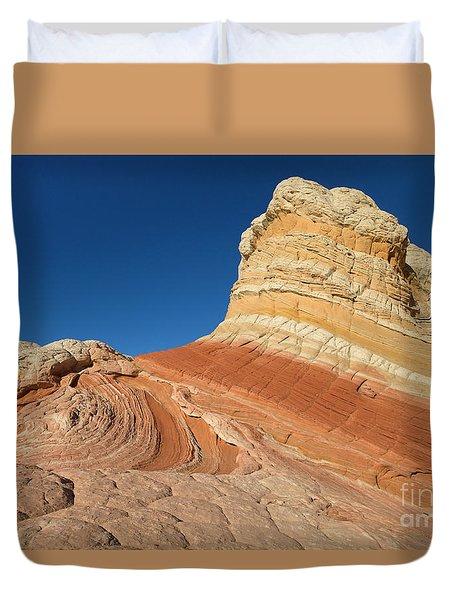 Rock Formation Vermillion Cliffs N M Duvet Cover
