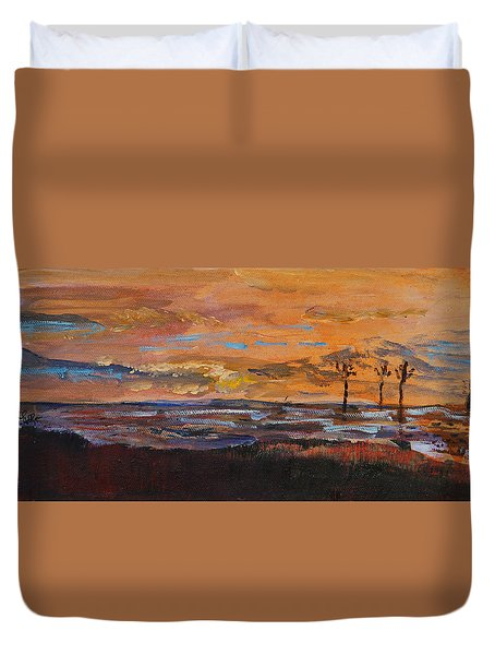Rock Harbor Sunset Duvet Cover