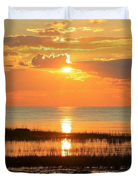 Rock Harbor Twilight Duvet Cover