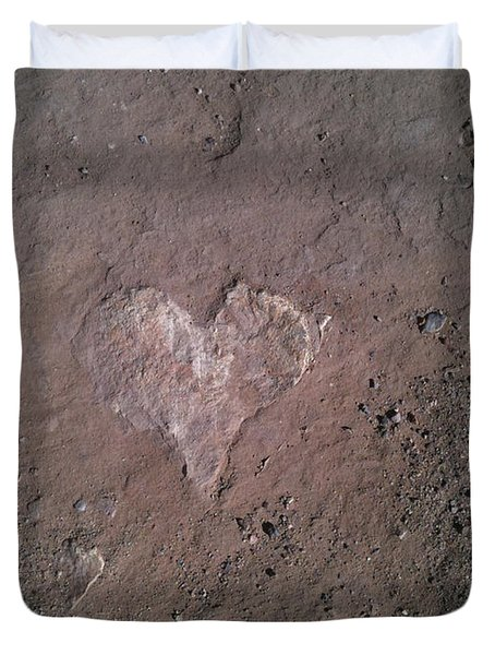 Rock Heart Duvet Cover