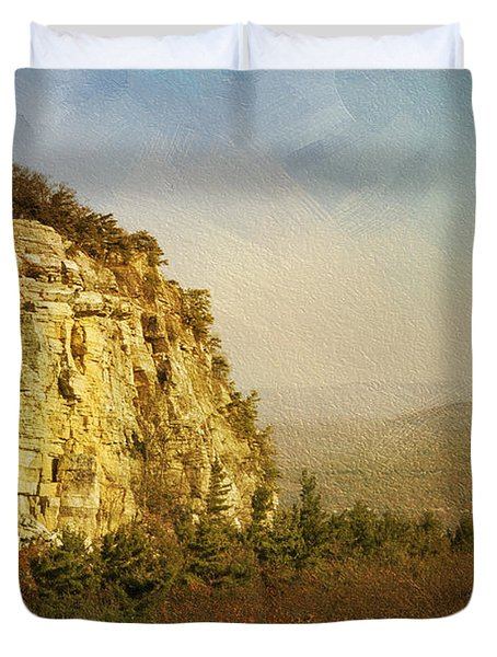 Rock Of Ages Duvet Cover by A New Focus Photography
