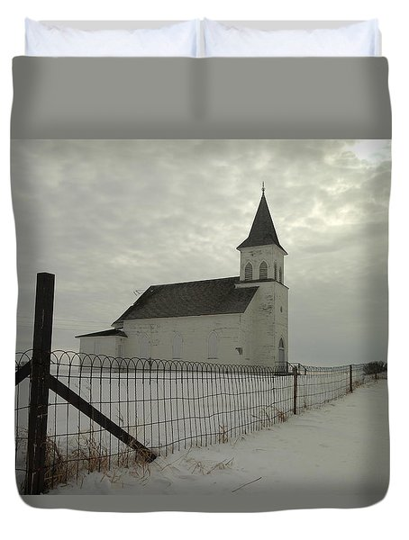 Rock Of Ages In North Dakota Duvet Cover by Jeff Swan