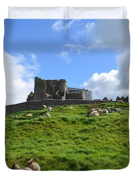 Rock Of Cashel In The Distance Duvet Cover