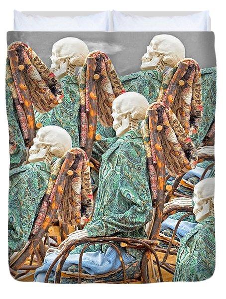 Rock The Bones Duvet Cover