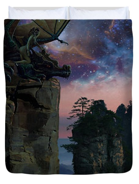 Rock Towers Duvet Cover