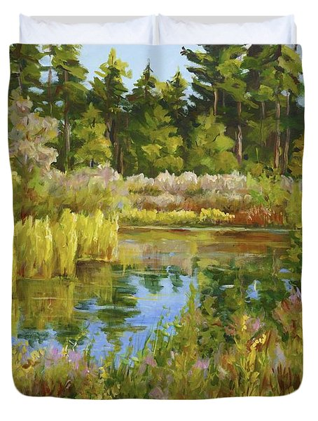 Rock Valley Pond Rockford Il Duvet Cover