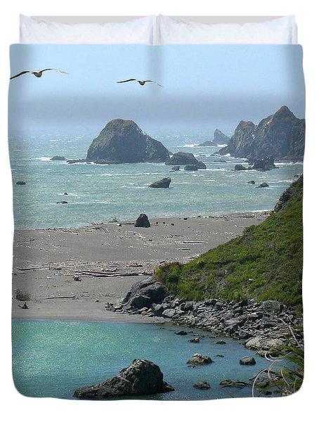 Rock West Coast Duvet Cover by Mike McGlothlen