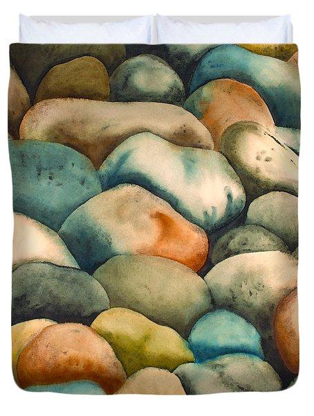 Rockbed In Natural Duvet Cover