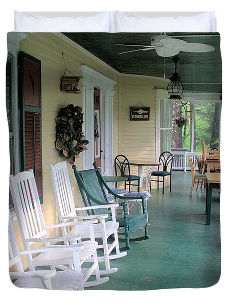 Rockers On The Porch Duvet Cover