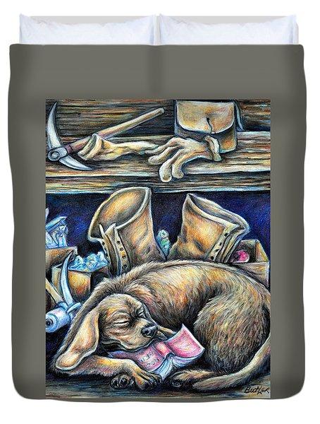Rockhound Duvet Cover by Gail Butler